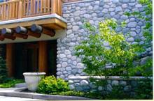 cobble stone wall project